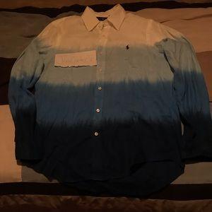 Long Sleeve Button Down Ralph Lauren Polo Shirt